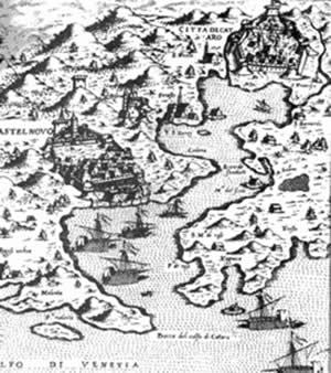Старинная карта Которского залива